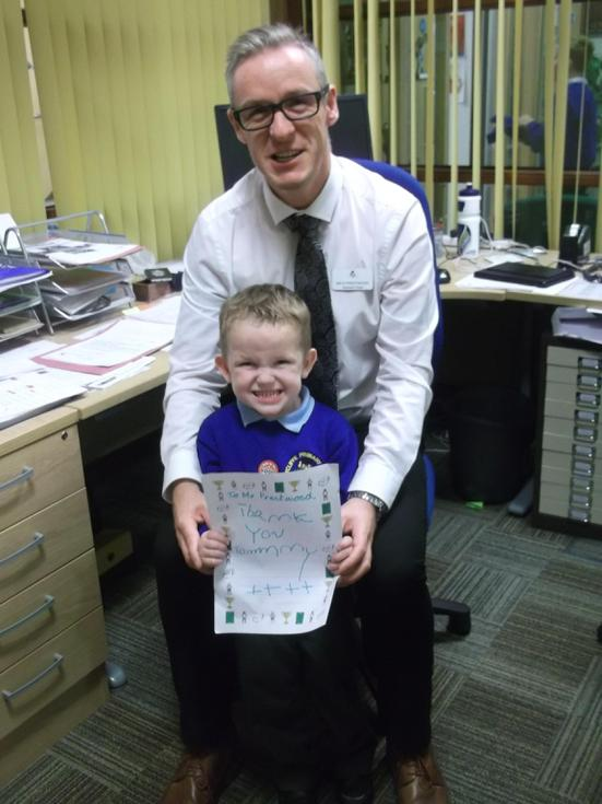 Tommy wrote Mr Prestwood a letter to say thank you
