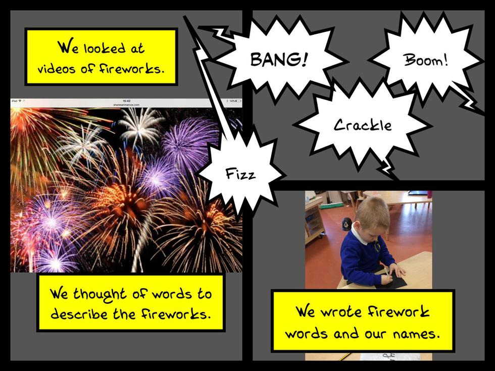 We learn about different celebrations. This is Bonfire Night..JPG