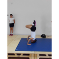 Natasha's headstand in Gymnastics.