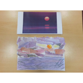 Egyptian art work landscapes - Riley.