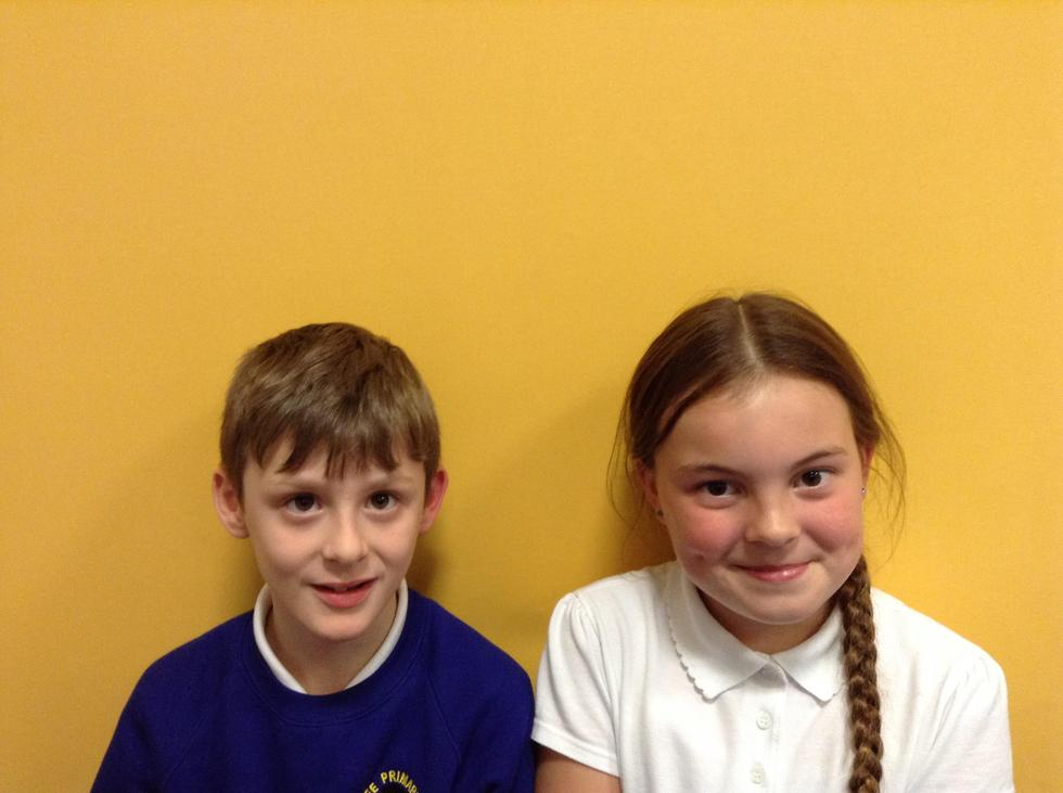 Aiden & Amelia - 3/4S school councillors
