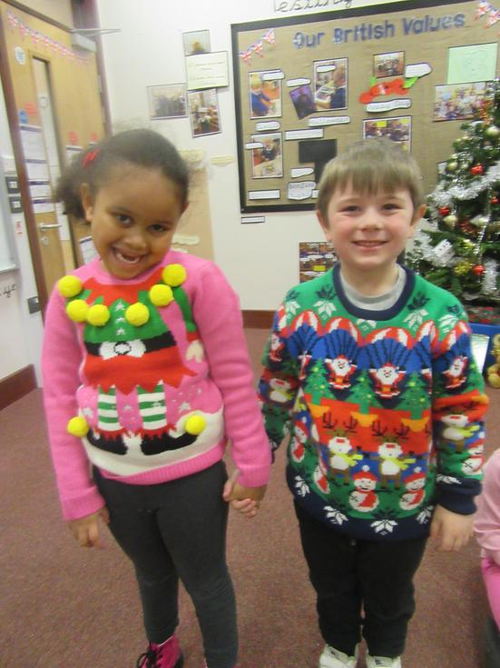 We learn about traditions. This is Christmas jumper day (3).JPG