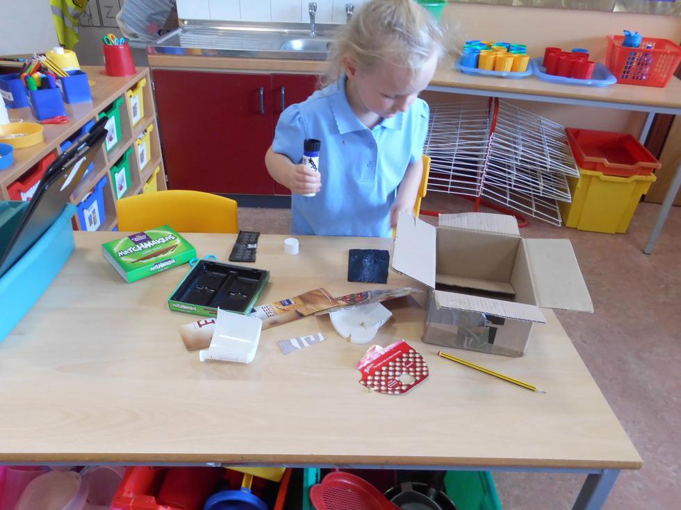 Making models in the workshop.