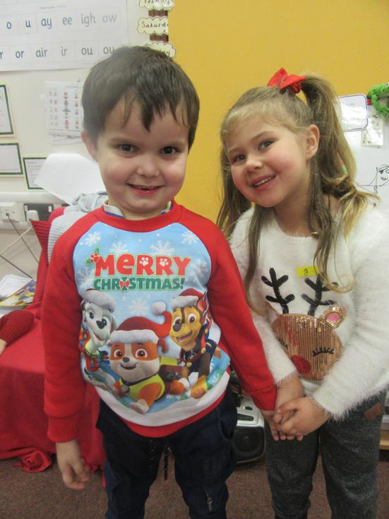 We learn about traditions. This is Christmas jumper day (1).JPG