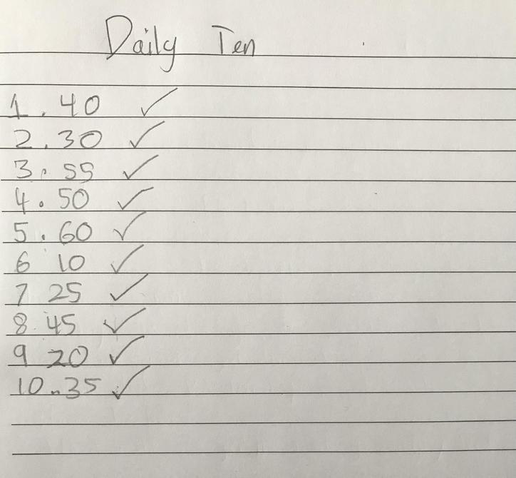 Daily 10 by Aarya