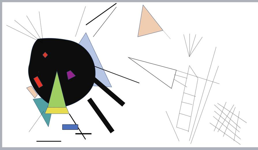 Kandinsky inspired art by Sienna!