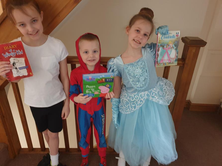 Greg from 'Diary of a Wimpy Kid', Cinderella and Spiderman