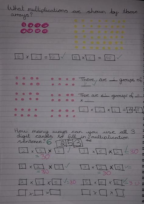 Lots more lovely Maths work by Matthew