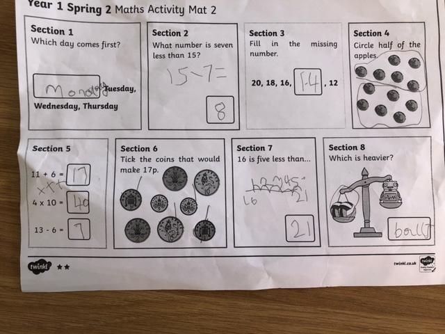 Brilliant Maths Amelia, well done!