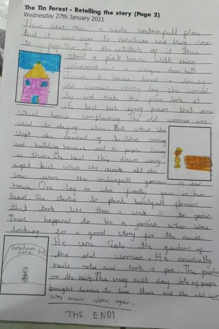 Great use of paragraphs in your retelling Bhuvi