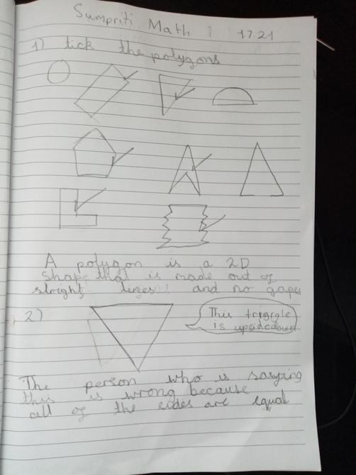 Great work on triangles Sumpriti