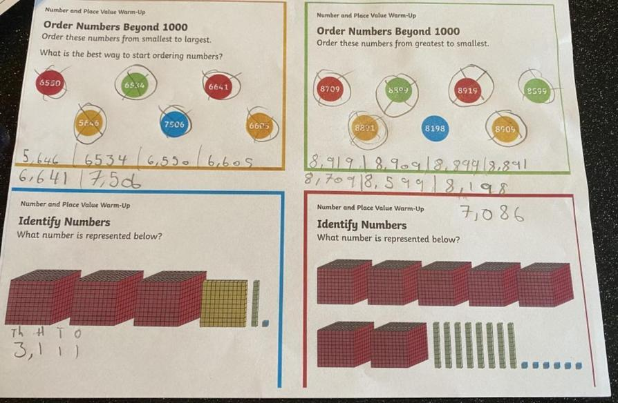 Great Maths work by Sienna