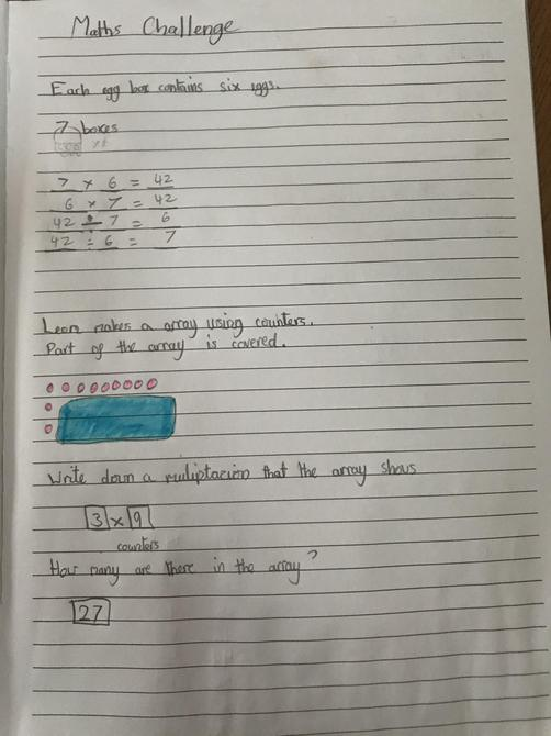 Maths challenge by Aarya