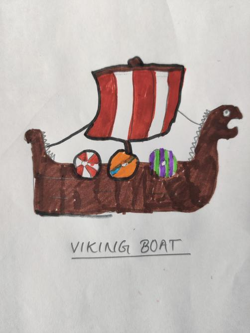 Excellent drawing of a Longship Aarya