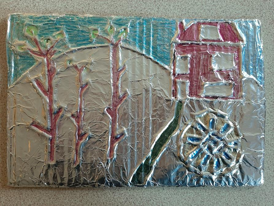 Danny P got the glue gun out-Love the embossed tin forest