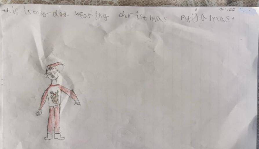 Oliver's excellent drawing of his dad!