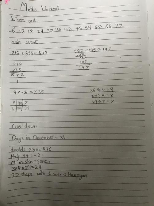 Great Maths work out Aarya