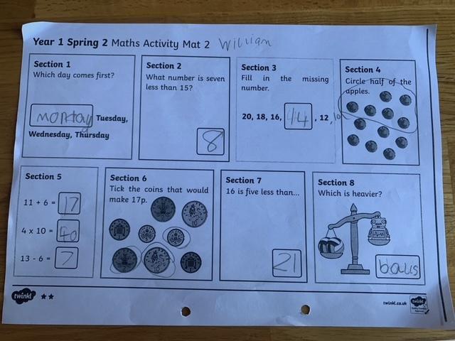 Excellent Maths William