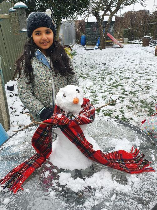 What a great snowman Bhuvi
