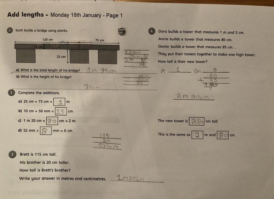 Matthew has been working hard on his maths