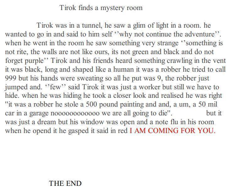 Matthew's next part of the Tirok story.