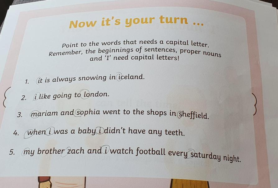 You found all of the missing capital letters, great work Henry