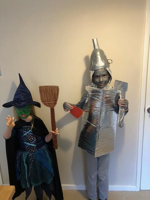 The Wicked witch of the West and the Tin Man