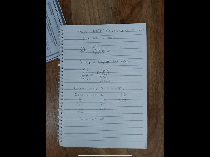 Maths Challenge by Aminata