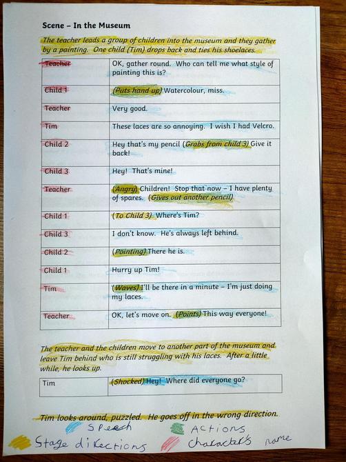 Fantastic play-script work!
