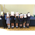 Year 1 compared their faces with their adults.