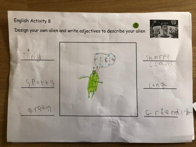 Brilliant adjectives Amelia, well done!