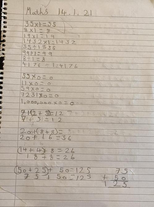 Fabulous maths work Sienna - love all those jottings!