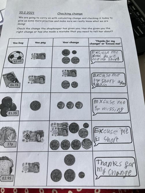 Super maths work Areeb!