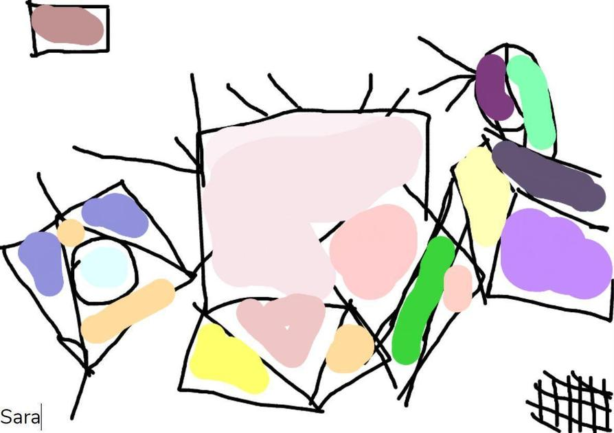 Kandinsky inspired art by Sara!