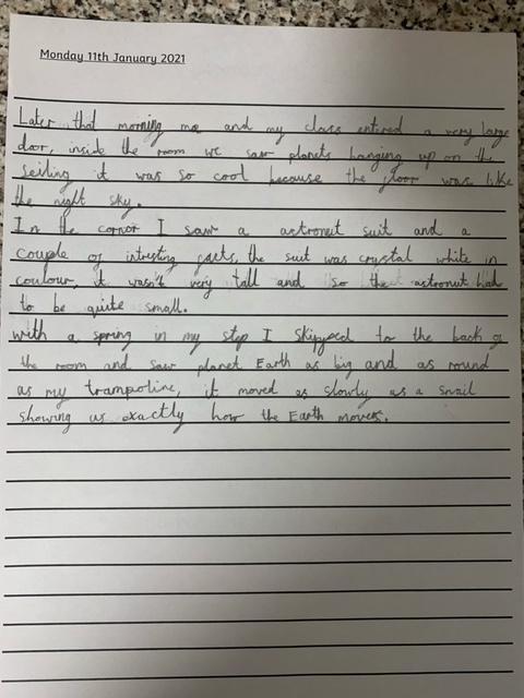 Fantastic writing Reggie - well done!
