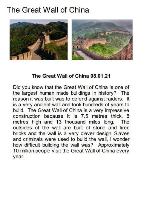Great Wall of China - final piece by Talia!