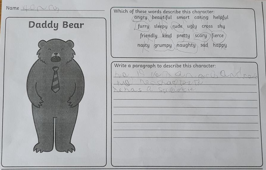 Well done Henry! I can see that you are working really hard.