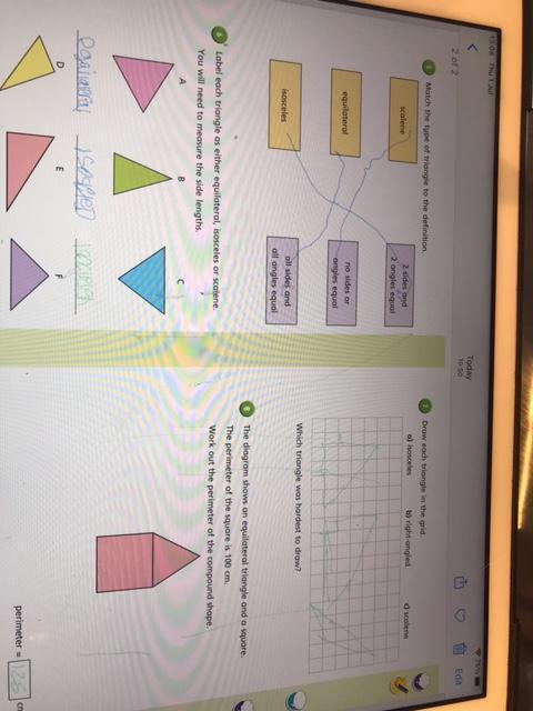 well done on identifying different triangles Danny W