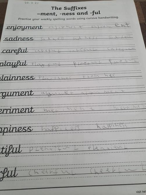 Good handwriting Tobi