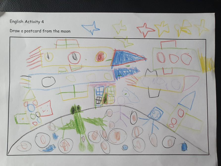 Fantastic postcard Dominic, well done!