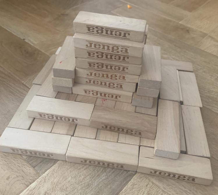 Noah made a Wonder of the World model - great use of Jenga blocks!