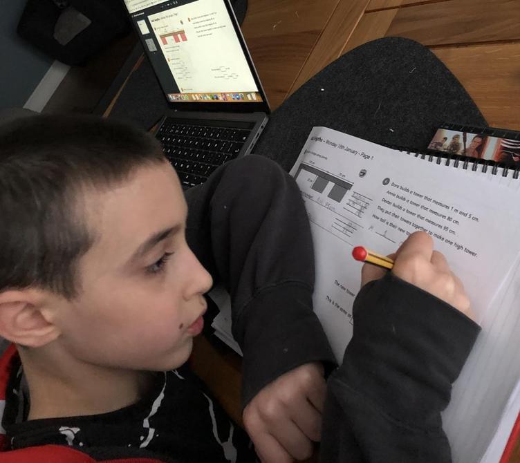 Hard at work at Home Learning!