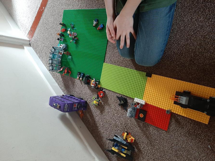 Danny P getting Lego creative