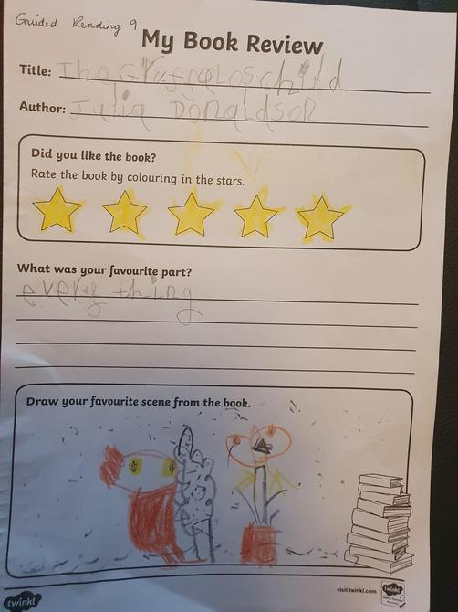 Fantastic book review Dominic, well done!