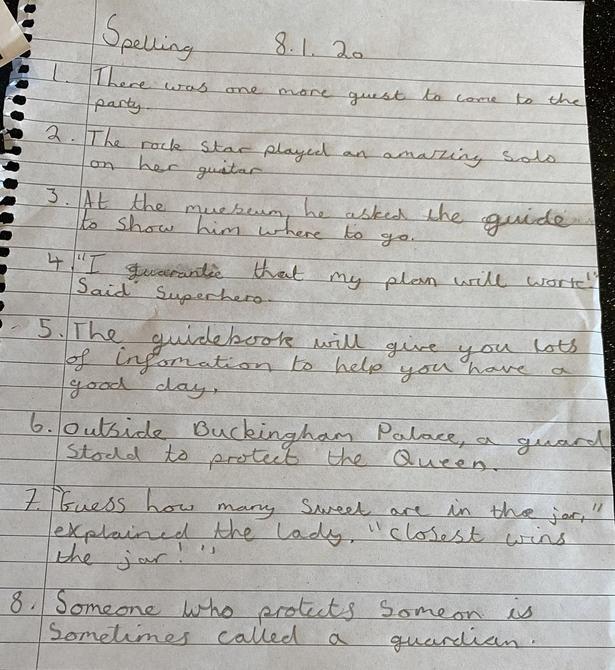 Sienna's Super Spelling!
