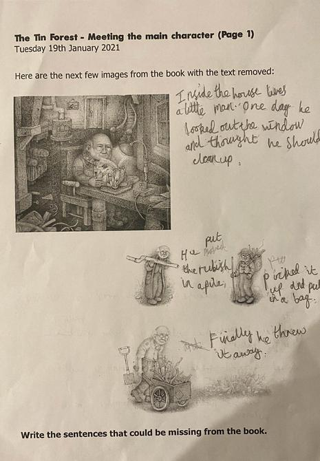 Talia's possible sentences for The Tin Forest