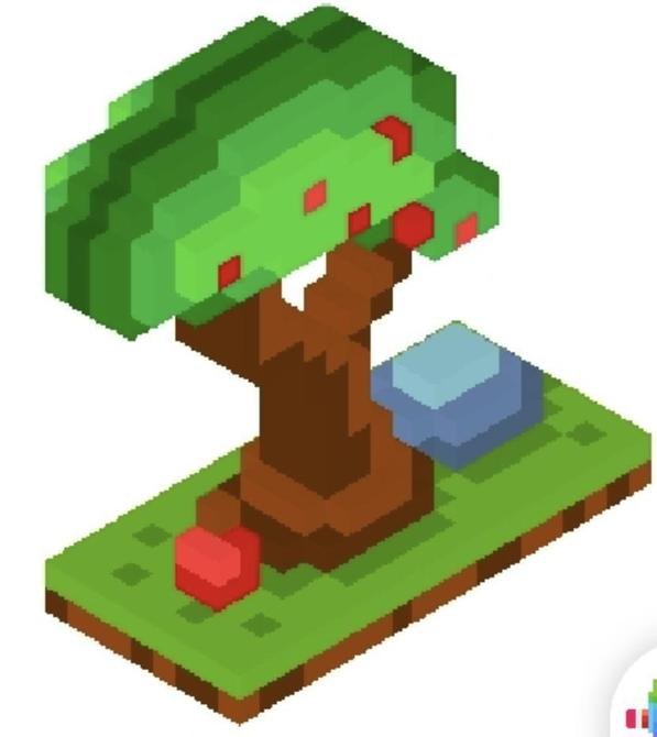 Look at this cool 3D tree that Grace made with Pixel art!