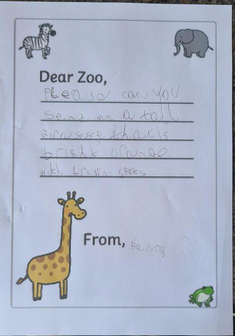 A great letter Henry