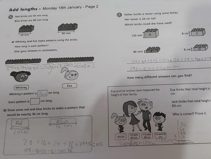 Great maths work from Rehan