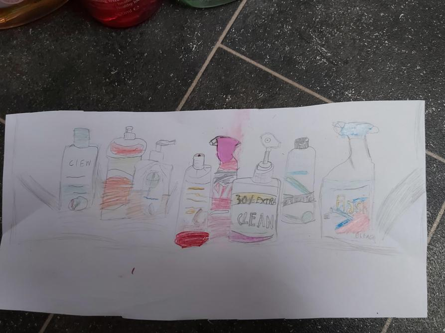Aminata's drawing without the arrangement.